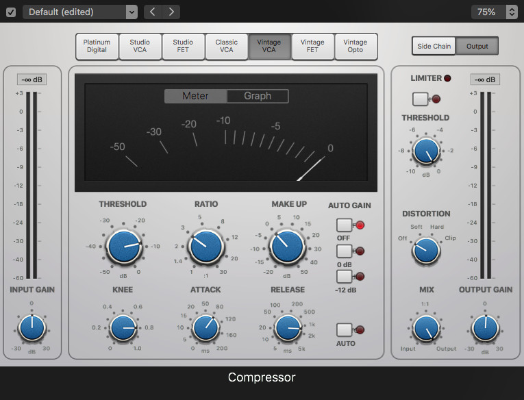 Compression for NLE audio Channel